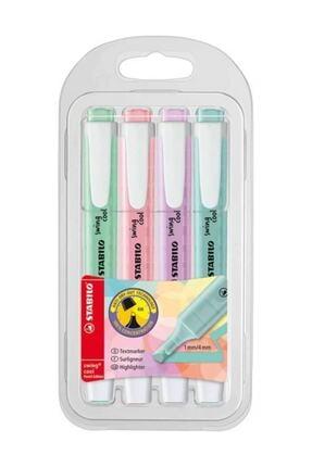 Stabilo Swing Cool Pastel Işaretleme Kalemi 4 Renk Paket 275 Paket 275