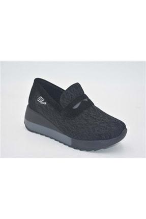 Mammamia D21ka-590-wx Dolgu Topuk Tekstil Kadın Ayakkabı - Siyah - 39