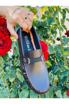 BrownBlack Erkek Cilt Kahverengi Ortopedik Babet Ayakkabı