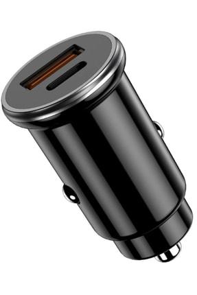 Kamardey Araç Çakmaklık Şarj Aleti 20w Pd Type-c Ve Usb Çıkışlı Hızlı Şarj Qc 3.0