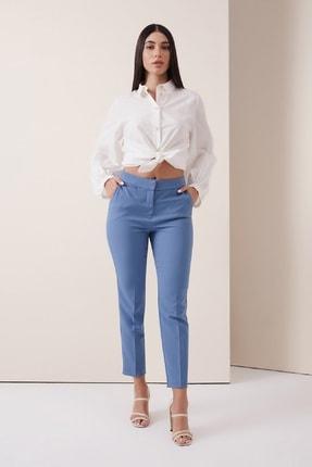 Gusto Sigaret Kumaş Pantolon - Mavi