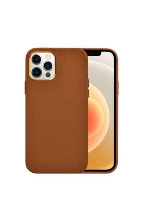 Apple Iphone 12 Pro Max Kılıf Darbe Emici Kamera Koruyucu Deri Wiwu Calfskin Case