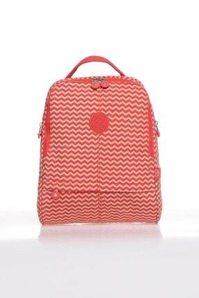 SMART BAGS Smartbags Kadın Sırt Çantası 1117 Kırmızı Bej