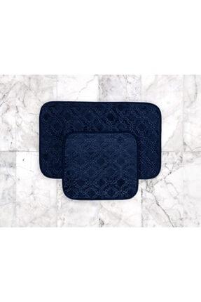 Madame Coco Prunella 2'li Banyo Paspası - Indigo - 50x80 + 45x50 Cm