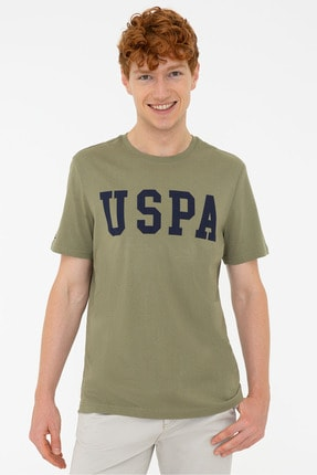 U.S. Polo Assn. U.s. Polo Erkek O Yaka Regular Fit T-shırt 1187952 Geart 027 Haki
