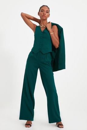 TRENDYOLMİLLA Yeşil Geniş Paça Pantolon TWOSS21PL0189
