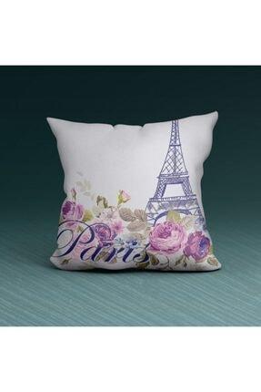 Artikel Paris Detaylı Dekoratif Yastık Kırlent Kılıfı 45x45 Cm