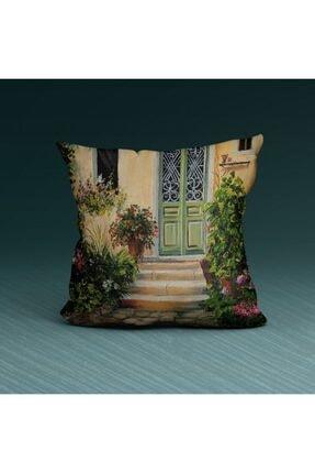 Artikel Çiçek Bahçesi Dekoratif Yastık Kırlent Kılıfı 45x45 Cm