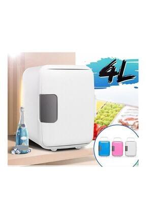 MR AUTO Pratik Mini Buzdolabı, Araç Içi Buzdolabı Beyaz