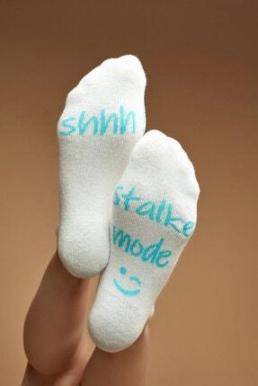 Penti Beyaz Stalker Patik Çorap