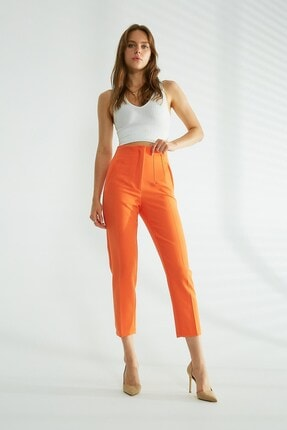 Robin Cepli Kumaş Pantolon Orange