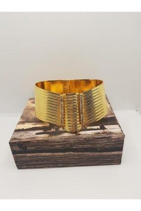 yılmaz gold 24 Ayar Altın Kaplama Rize Modeli Taşlı Kelepçe Bilezik