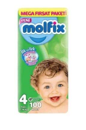 Molfix 4 Numara 100 Adet Bebek Bezi