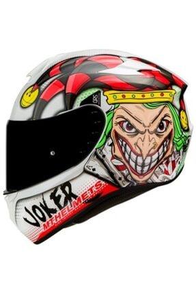 MT Helmets Mt Kask Mt Targo Joker A0 Gloss-pearl White Şeffaf Vizörlü Motosiklet Kaskı