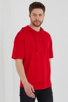 BREEZY Kapişonlu Tshirt Kırmızı