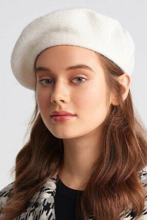 burberk Fransız Ressam Bere Yün Keçe Ressam Şapka Bere Ekru Beyaz