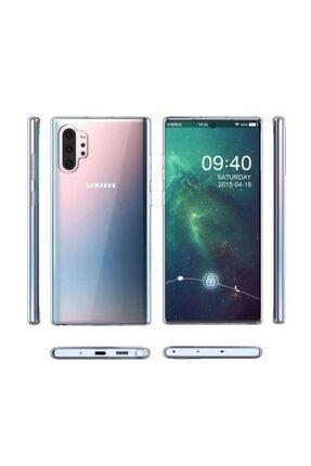 Samsung Galaxy Note 10 Plus Için Uyumlu Şeffaf Kılıf Yumuşak Darbe Korumalı Süper Silikon Kapak
