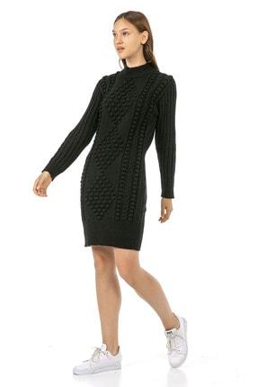 VISHENKA Kadın Siyah Triko Tunik Kazak