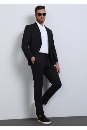 Ramsey Erkek Siyah Düz Dokuma Takım Elbise
