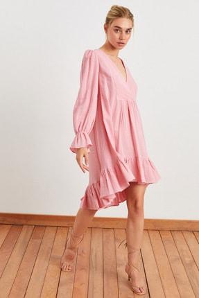 Love My Body Kruvaze Büzgülü Elbise