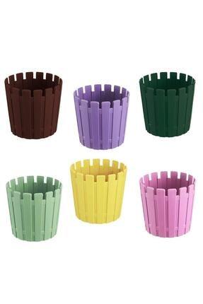 bimbambom Akasya Çit Saksı 1lt 6 Adet, Renkli Saksı, Bahçe Balkon Saksı