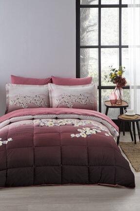 Özdilek Daffodil Çift Kişilik Uyku Seti Kırmızı