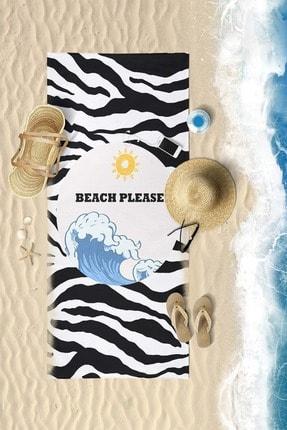 VevienHome Summer Sun Dijital Baskılı 70x150 Cm Plaj Havlusu