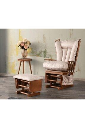 SİVAS GÖZDE MOBİLYA Sallanır Koltuk Tv Sandalyesi- Emzirme Koltuğu Puflu- Baba Dinlenme Koltuğu