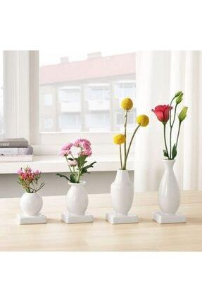 IKEA Krıngga 4 Parça Dekoratif Vazo Seti Stoneware