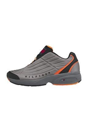 Tommy Hilfiger Erkek Gri Sneaker Heritage Mix Sneaker EM0EM00585
