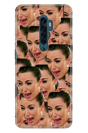 Oppo Reno 2z  Pure Uyumlu Modern Desenli Silikon Kılıf Kardashian Cry