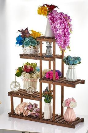 Vip Home Yeni Ev Için Ahşap Saksılık Çiçeklik Standı Ahşap Çiçek Rafı Vda-118