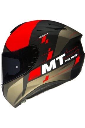 MT Helmets Mt Kask Mt Targo Rigel A5 Mat Flo Red Motosiklet Kaskı