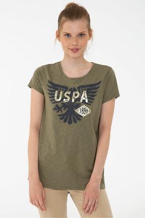 U.S. Polo Assn. Yeşil Kadın T-Shirt