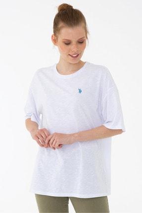 U.S. Polo Assn. Beyaz Kadın T-Shirt