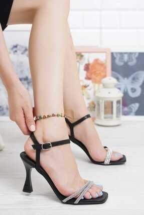 Lmn 41 Numara Abiye Topuklu Ik Bantlı Ince Pırlanta Taşlı Bilekten Tokalı Kadın Ayakkabı