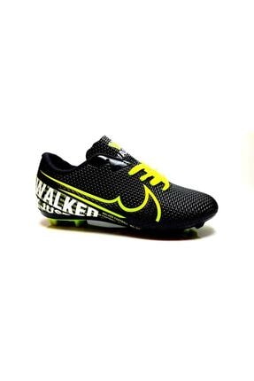 Walked Krampon Futbol Ayakkabısı Football Unisex Ultra Hafif 433 Siyah Sarı