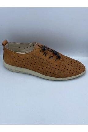 Venuma Taba Rengi Hakiki Nubuk Deri Yazlık Ayakkabı