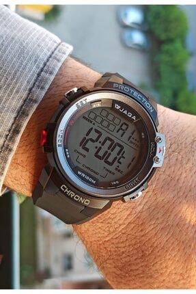 Jaga Chrono Su Geçirmez Kronometreli Siyah Dijital Erkek Kol Saati