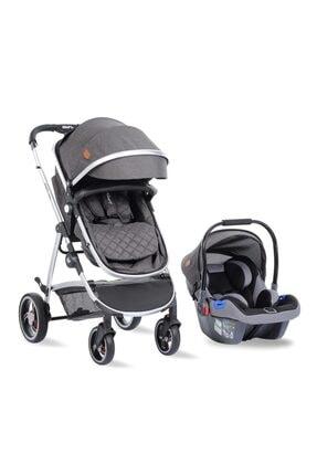 Kraft Glow Travel Sistem Bebek Arabası Koyu Gri