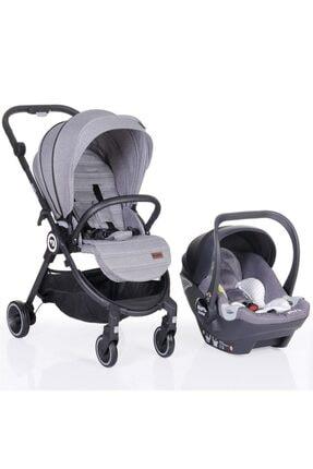 Kraft Onyx Travel Sistem Bebek Arabası Açık Gri