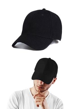 Capstories Siyah Düz Erkek Şapka