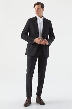 D'S Damat Regular Fit Siyah Düz Travel Takım Elbise