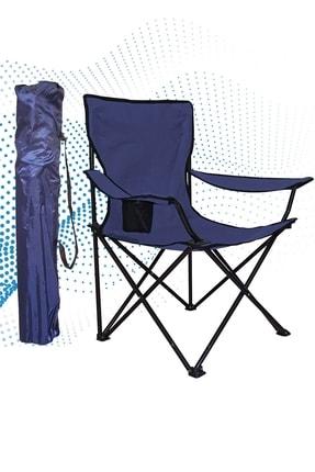 Shey Çantalı Kamp Sandalyesi Balıkçı Plaj Piknik Koltuk Lacivert