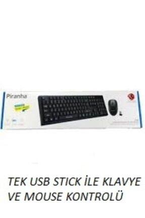 Piranha 2335 Kablosuz Klavye Mouse Set Tek Usb Stick Ile Çalışır