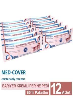 Medcover Med-cover Bariyer Kremli Perine Vücut Mendili 50'li 12 Paket