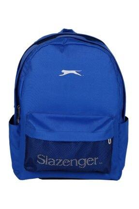 Slazenger Üç Bölmeli File Cepli Mavi Okul Ve Günlük Sırt Çantası