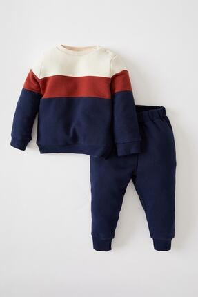 DeFacto Erkek Bebek Baskılı Sweatshirt Ve Jogger Eşofman Alt Takımı