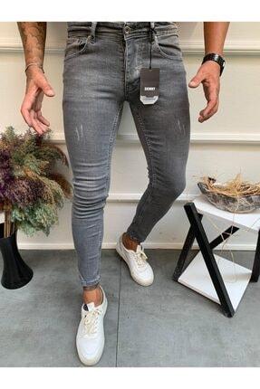Dr Dnm Remix Erkek Jeans Skinny Fit Likralı Gri Tırnaklı