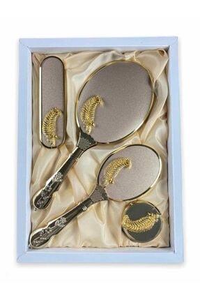 LOVELA 400'lü Yaprak Gold Ayna Tarak Seti